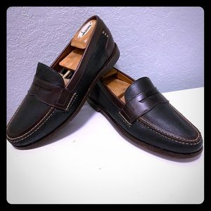 Mens HS TRASK Black Brown Loafers Size 8 M